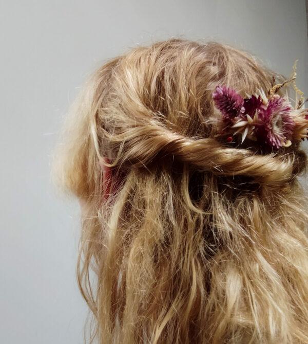bloemenkam roze beige